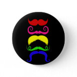Funny Colorful Mustaches Pink Yellow Blue Green