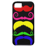 Funny Colorful Mustaches Pink Yellow Blue Green iPhone 5 Cases