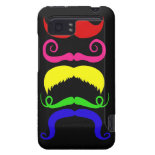 Funny Colorful Mustaches Pink Yellow Blue Green HTC Vivid / Raider 4G Case