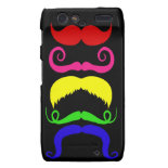 Funny Colorful Mustaches Pink Yellow Blue Green Motorola Droid RAZR Cover