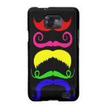 Funny Colorful Mustaches Pink Yellow Blue Green Galaxy SII Covers