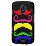 Funny Colorful Mustaches Pink Yellow Blue Green Galaxy Nexus Covers