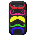 Funny Colorful Mustaches Pink Yellow Blue Green Samsung Galaxy S3 Covers