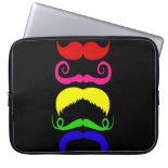 Funny Colorful Mustaches Pink Yellow Blue Green Computer Sleeves