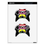 Funny Colorful Mustaches Pink Yellow Blue Green Xbox 360 Controller Skin