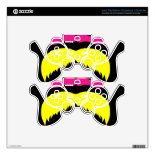 Funny Colorful Mustaches Pink Yellow Blue Green PS3 Controller Decals