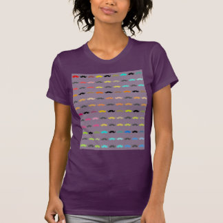 Funny Colorful Mustaches T-Shirt