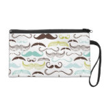 Funny Colorful Pattern for Mustache Lovers Wristlet Clutches