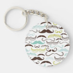Funny Colorful Pattern for Mustache Lovers Acrylic Keychains
