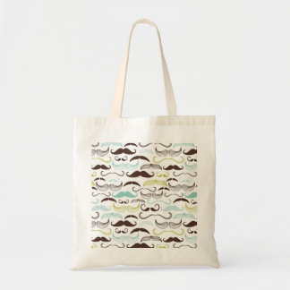 Funny Colorful Pattern for Mustache Lovers Tote Bag