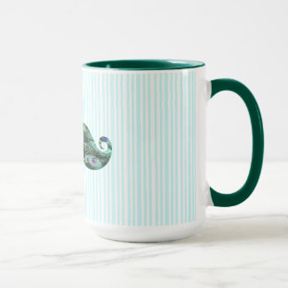 Funny  Colorful Peacock Feathers Mustache Mug