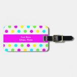 Funny Colorful Polka Dots - Adress Luggage Tag