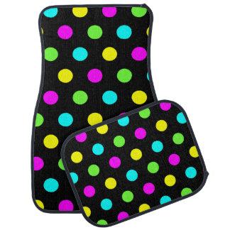 Funny Colorful Polka Dots - Car Mats