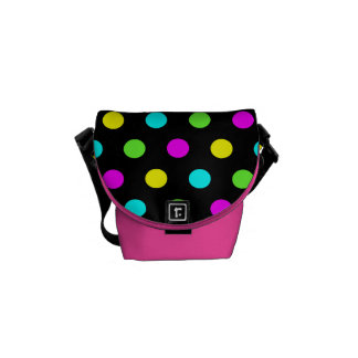 Funny Colorful Polka Dots Girly Mini Messenger Bag