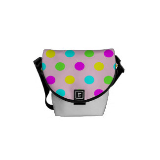 Funny Colorful Polka Dots - Mini Messenger Bag