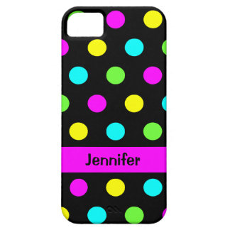 Funny Colorful Polka Dots - Name iPhone 5 Cover