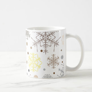 Funny Colorful Snowflakes Pattern Coffee Mug
