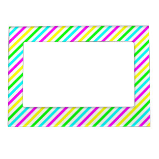 Funny Colorful Stripes  - Picture Magnetic Frame