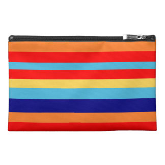 funny colorful stripes travel accessory bag