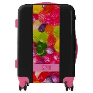 Funny Colorful Sweet Candies Food Lollipop Luggage