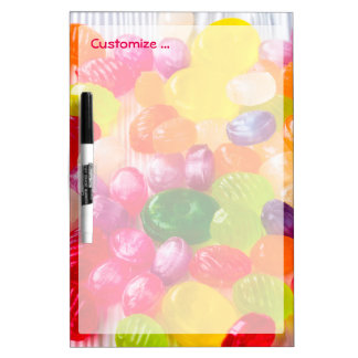 Funny Colorful Sweet Candies Food Lollipop Photo Dry Erase Board