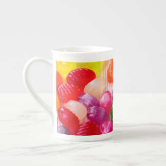 Funny Colorful Sweet Candies Food Lollipop Photo Tea Cup