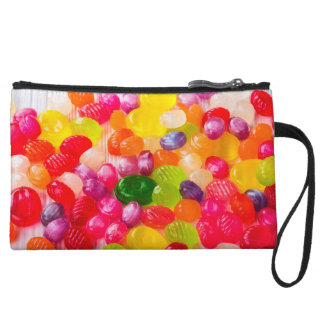 Funny Colorful Sweet Candies Food Lollipop Photo Wristlet