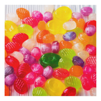 Funny Colorful Sweet Candies Food Lollipop Picture Panel Wall Art