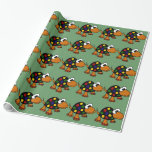 Funny Colorful Turtle Art Gift Wrap Paper