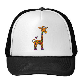 Funny Colorfully Spotted Giraffe Trucker Hat