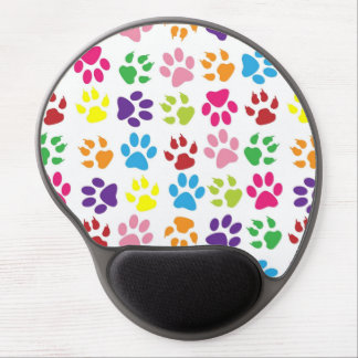 Funny colors dog's paw gel mouse pad