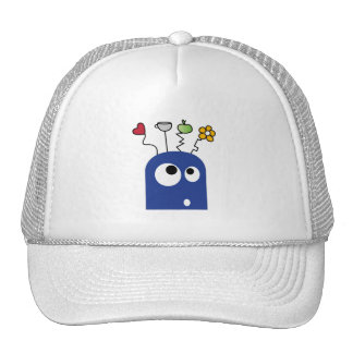 FUNNY COLOURFUL CARTOON MONSTER HEARTS GRAPHICS TRUCKER HAT