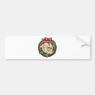 Funny Comedy & Tragedy Christmas Masks Bumper Sticker