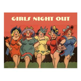Funny comic bachelorettes postcard