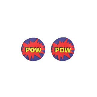 Funny Comic Book Style Pow Novelty Earrings