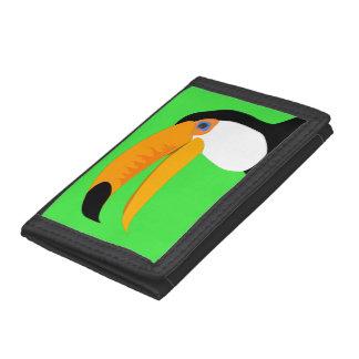 Funny comic cartoon Toucan bird smile Trifold Wallet