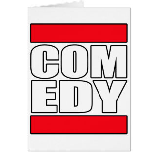 funny Comic Comedy stand up Comedian Card