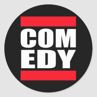 funny Comic Comedy stand up Comedian Classic Round Sticker