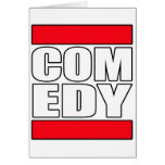 funny Comic Comedy stand up Comedian Greeting Card