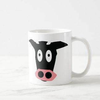funny comic cow head mug
