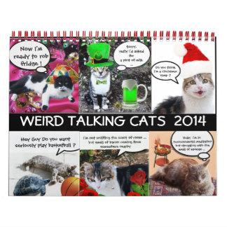 FUNNY COMIC STRIPS FROM WEIRD TALKING CATS 2014 WALL CALENDAR