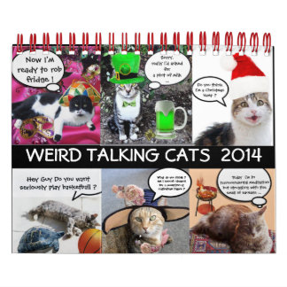 FUNNY COMIC STRIPS FROM WEIRD TALKING CATS 2014 CALENDAR