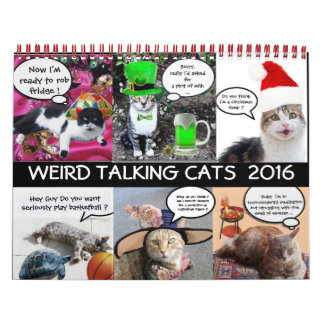 FUNNY COMIC STRIPS FROM WEIRD TALKING CATS 2016 CALENDAR