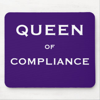 Funny Compliance Job Title Mouse Pad