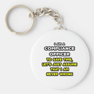Funny Compliance Officer T-Shirts Basic Round Button Keychain