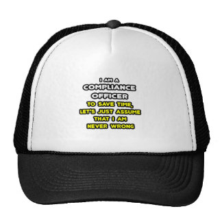 Funny Compliance Officer T-Shirts Mesh Hat