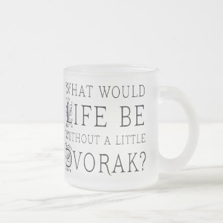 Funny Composer Life Without Dvorak Gift Frosted Glass Coffee Mug