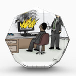 """Funny Computer and Technology Office Cartoon Award<br><div class=""""desc"""">&quot;Have you tried unplugging it and plugging it back in?&quot;</div>"""