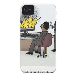 Funny Computer and Technology Office Cartoon Case-Mate iPhone 4 Case