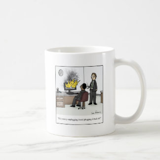 Funny Computer and Technology Office Cartoon Coffee Mug